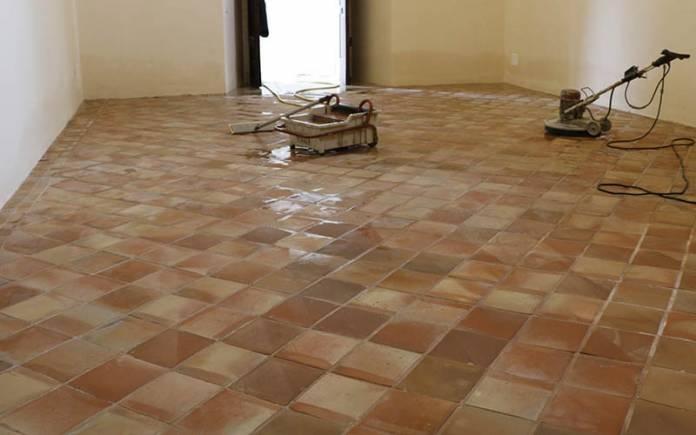 trattemento di un pavimento in cotto antico